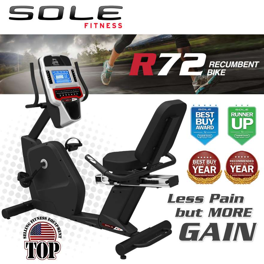 Recumbent Bike SOLE R72 Black