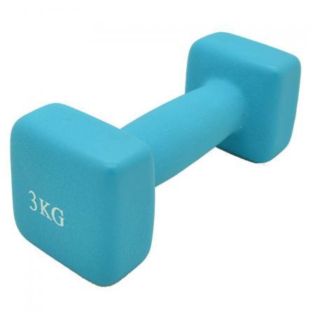 Bfit Neoprene Dumbbell 3kg - Neon Blue