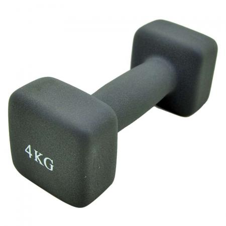 Bfit Neoprene Dumbbell 4kg - Neon Grey