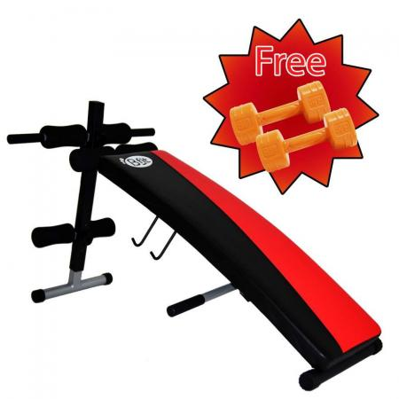 Bfit Sit Up Bench 1205 Free 2pc Cement Dumbell 1Kg