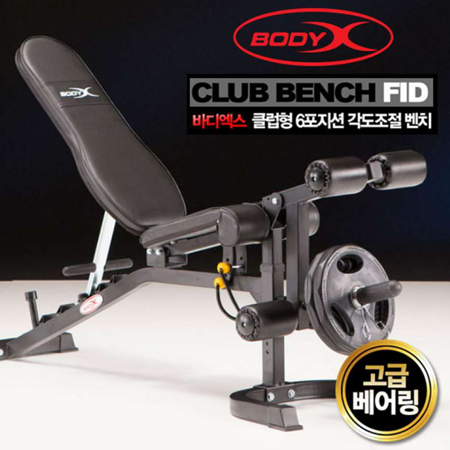 BODYX 6 POSITION FID BENCH BX-3025